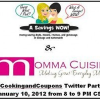 {RSVP} Join Us For the #CookingandCoupons Twitter Party on 1/10