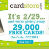 {WOW!} Free Personalized Card with Free Shipping from Cardstore.com Today 2/29 – Only 29,000 Available!