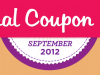 {#NCM12} September is National Coupon Month - LOTS of Events!