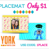 {#SaveMoney} Custom Photo Placemat for Only $1 (Plus S&H)