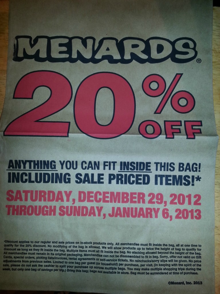 image regarding Menard Printable Coupons identified as Sizzling Sunday Chicago Tribune For Basically $0.80 For the duration of 01/06/13