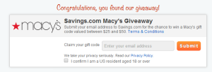 Macy's Gift Cards Giveaway