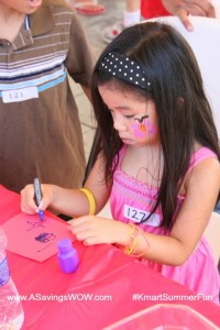 #KmartSummerFun Face Painting and Crafts