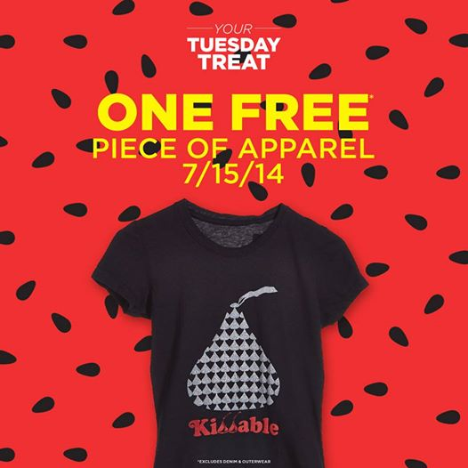 Get FREE Piece Of Apparel at Sears Outlet Stores. Valid today only For Shop your Way rewards members, if you are not a member (You can sign for FREE Here). **This is available at these Sears Outlet Stores that sell Apparel.