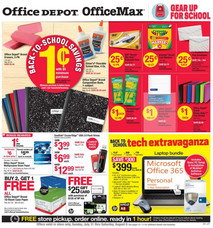 7-31 Office Depot Office Max