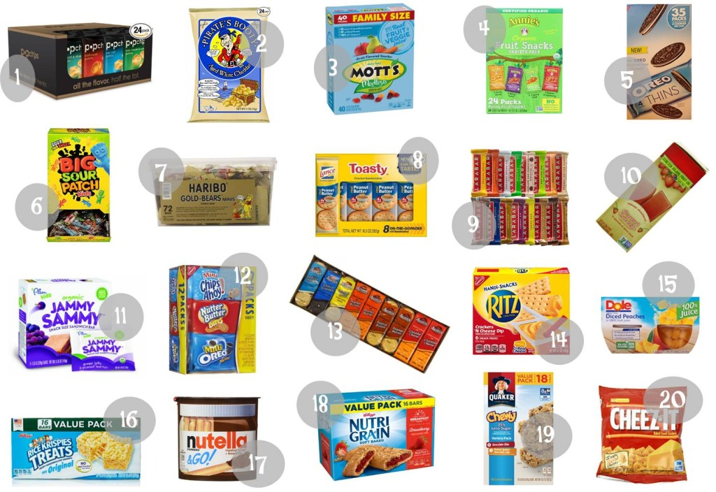 7.19 Amazon Round Up Back to School Snacks IMAGE