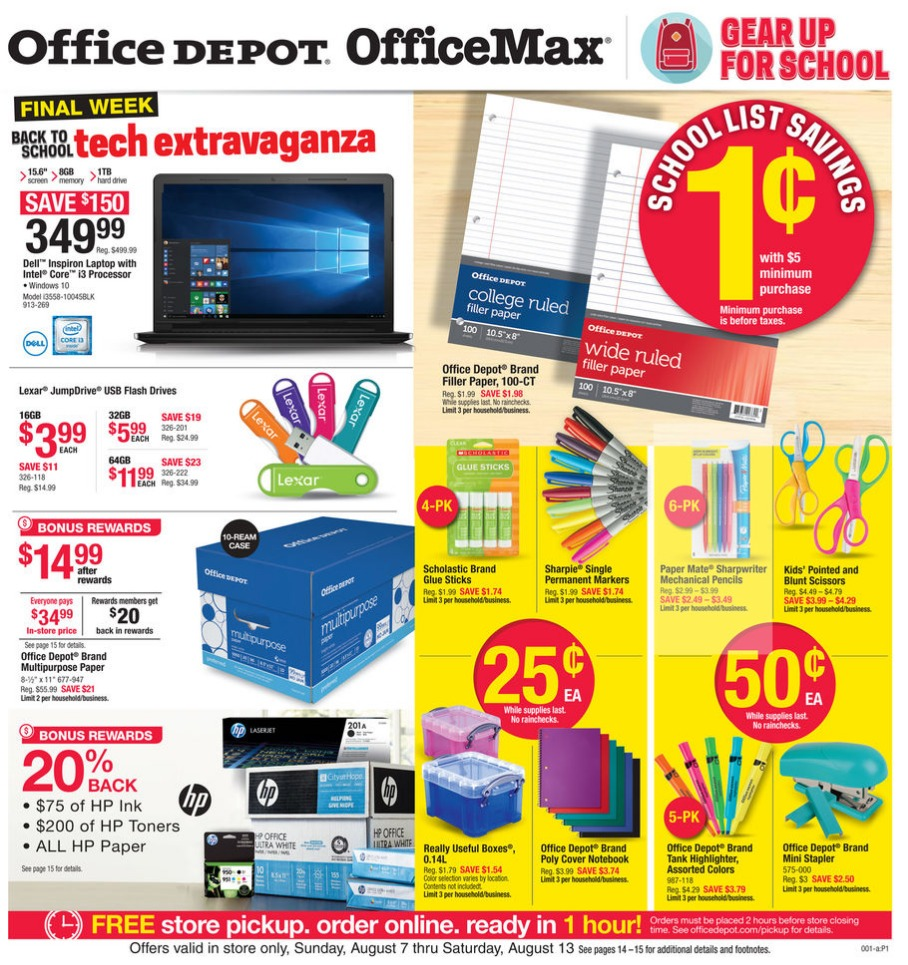 8-7 Office Depot Office Max