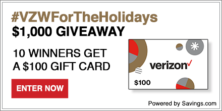 Verizon Holidays Giveaway